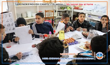 11th Tawenza English Camp for 4th primary: My typical day at home